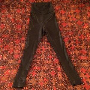 AA faux leather leggings